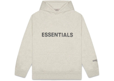 ESSENTIALS FOG 3D SILICON HOODIE OATMEAL