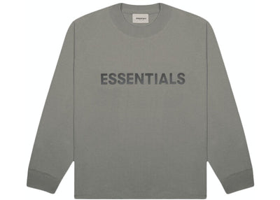 ESSENTIALS FOG 3D SILICON LONG SLEEVE CHARCOAL