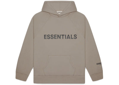 ESSENTIALS FOG 3D SILICON HOODIE TAUPE