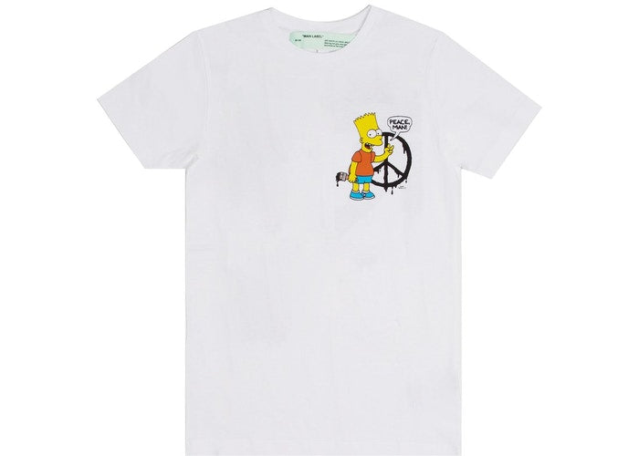 OFF WHITE BART SIMPSON PEACE OUT TEE