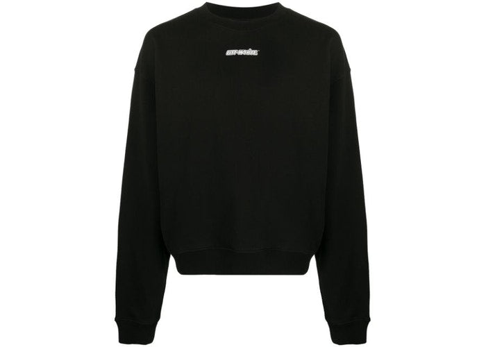 OFF-WHITE MARKER ARROWS CREWNECK SWEATSHIRT BLACK/RED