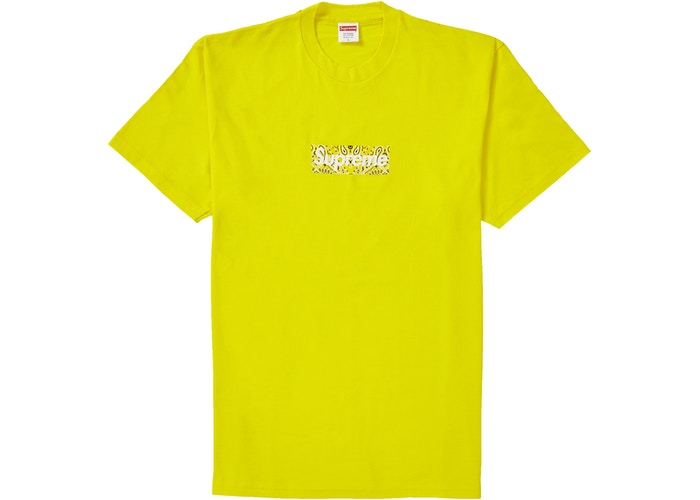 Supreme Bandana Box Logo Tee Yellow