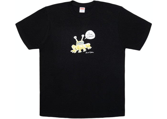 SUPREME DANIEL JOHNSTON FROG TEE BLACK