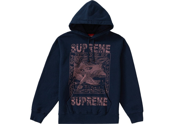 DOVES HOODED SWEATSHIRT NAVY