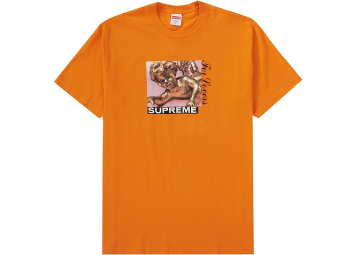 SUPREME LOVERS TEE ORANGE FW20