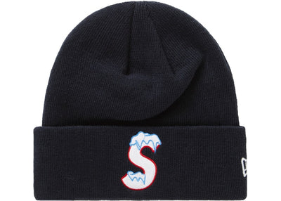 SUPREME NEW ERA S LOGO BEANIE FW20 NAVY