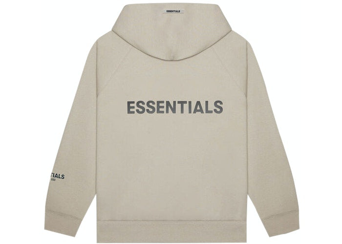 ESSENTIALS FOG ZIP UP HOODIE TAN