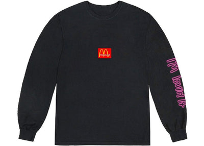TRAVIS SCOTT X MCDONALD'S ACTION FIGURE SPACE LONG SLEEVE BLACK