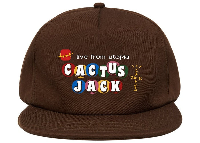TRAVIS SCOTT X MCDONALD'S CJ LIVE FROM UTOPIA HAT BROWN