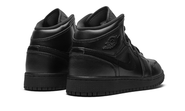 JORDAN 1 MID TRIPLE BLACK