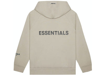 ESSENTIALS FOG 3D SILICON ZIP UP HOODIE TAUPE