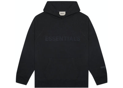 ESSENTIALS FOG 3D SILICON HOODIE BLACK
