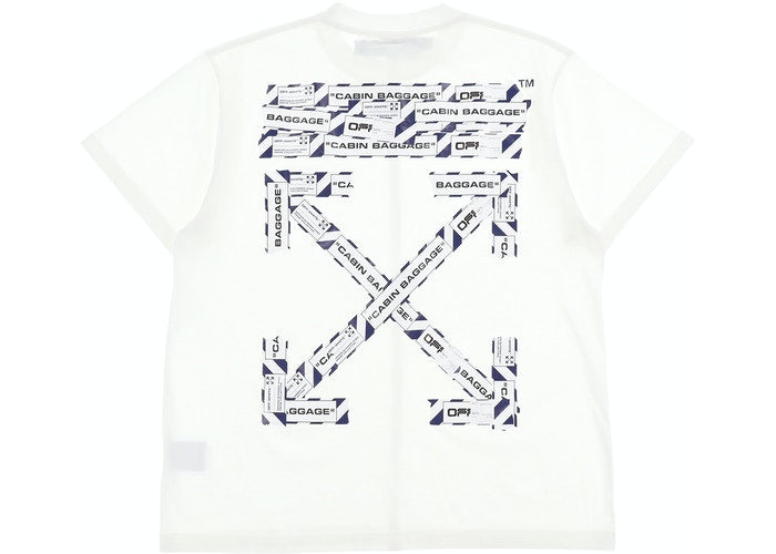 OFF WHITE AIRPORT TAPE TEE WHITE