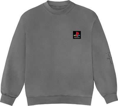 TRAVIS SCOTT PLAYSTATION CLASSIC CREWNECK WASHED GREY
