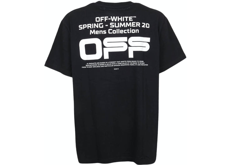 OFF WHITE BLACK WAVY LINE LOGO TEE