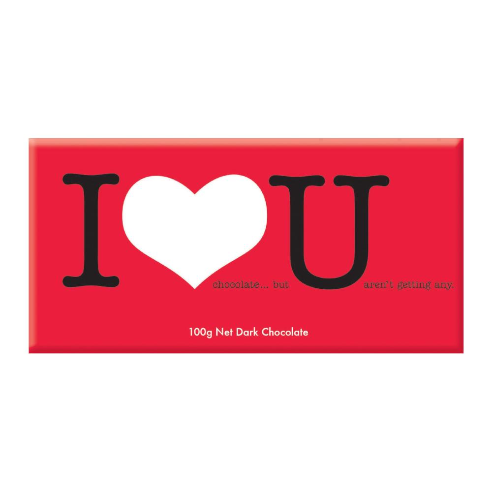 Chocolate Bar (Dark) - I Love You 100g