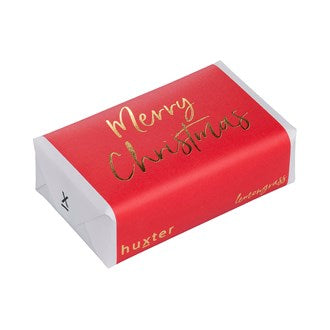 Merry Christmas (Gold Foil)  Gift Wrapped Soap (Lemongrass Fragrance)