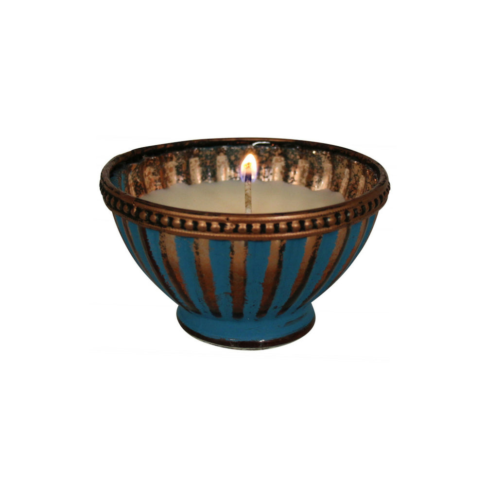 Glass Candle Bowl Moroccan Design
