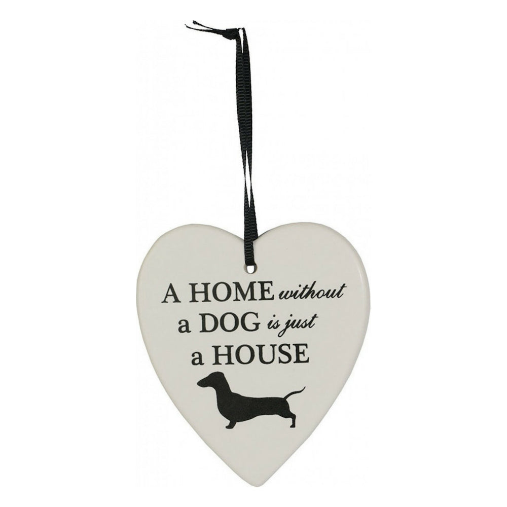 Christmas Ornament  (Heart Shape Sausage Dog)