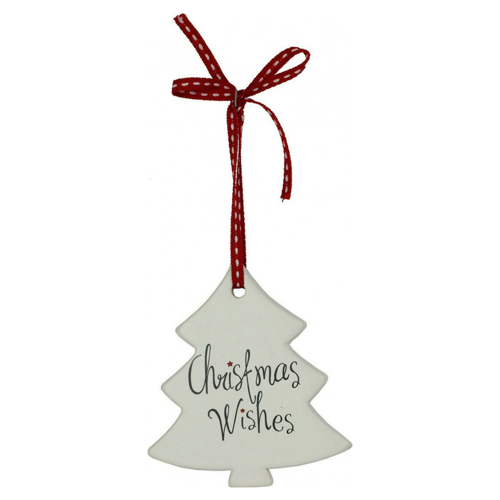 Ceramic Christmas Ornament  (Tree Shape)