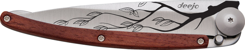 Tattoo Knife (Cherry Blossom Design) Coral Wood 37g