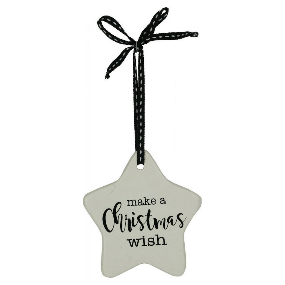 Ceramic Christmas Star Ornament