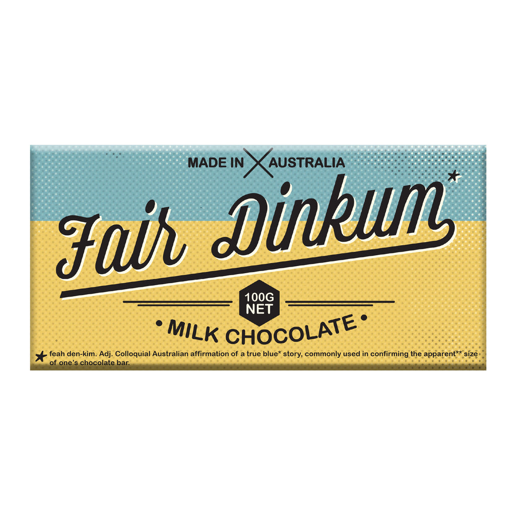 Chocolate Bar (Milk) Fair Dinkum 100g