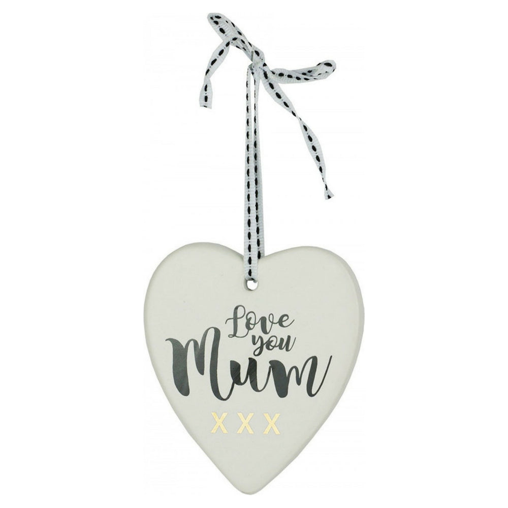 Christmas Ornament  (Heart Shape Love You Mum)