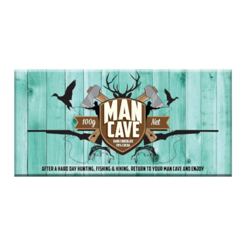 Dark Chocolate Bar with Man Cave wrapper
