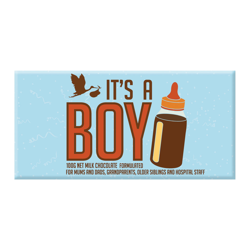 Chocolate Bar (Milk) - It's A Boy 100g