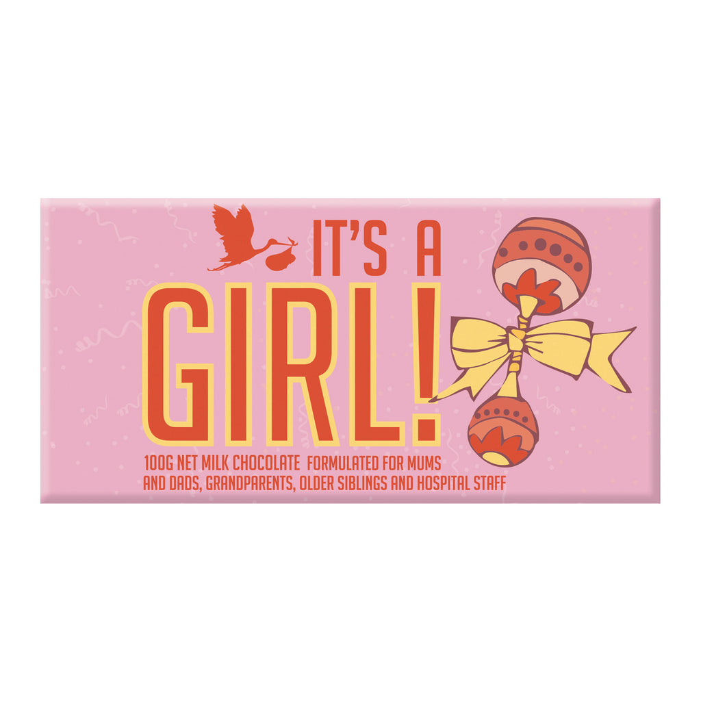 Chocolate Bar (Milk) - It's A Girl 100g