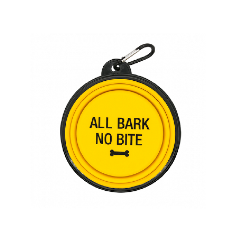 Dog Bowl - All Bark No Bite (Yellow)