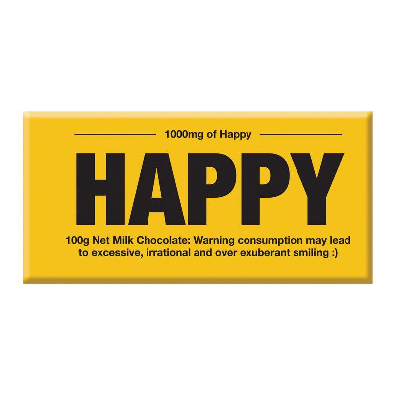 Chocolate Bar (Milk) - 1000mg of Happy (Yellow) 100g