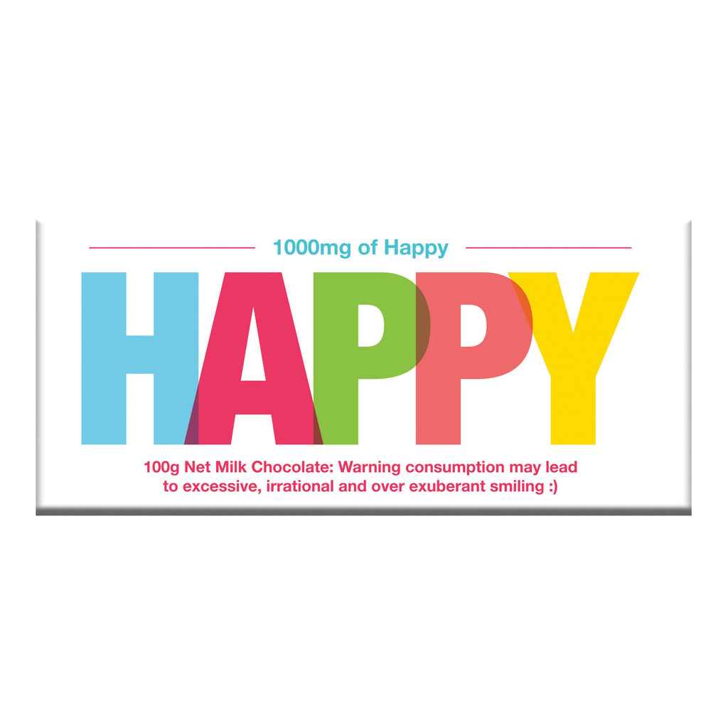 Gift Card Chocolate Bar outside - Happy design