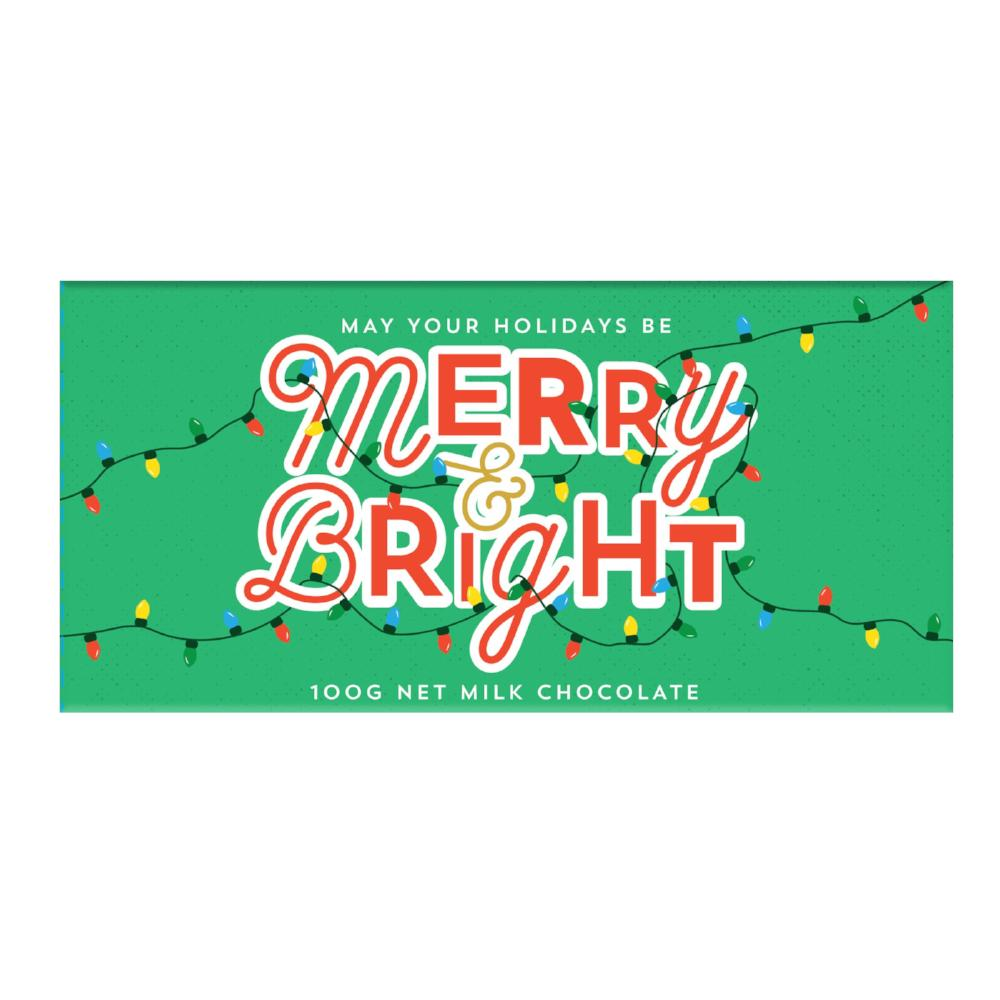 Chocolate Bar (Milk) - Merry & Bright 100g