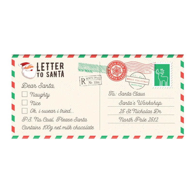 Chocolate Bar (Milk) - Letter To Santa 100g