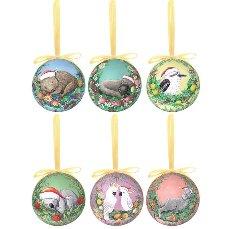 Christmas Baubles Set of Six