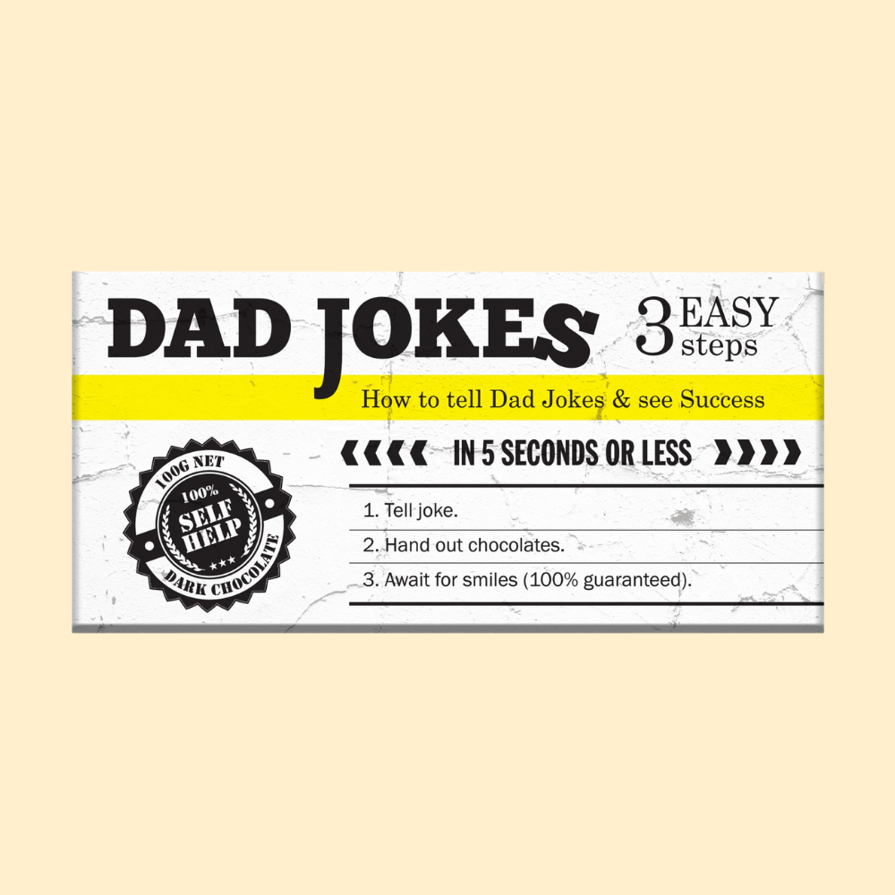 Dark Chocolate Bar - funny wrapper Dad Jokes
