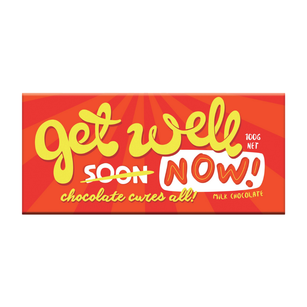Chocolate Bar (Milk) - Get Well Soon 100g