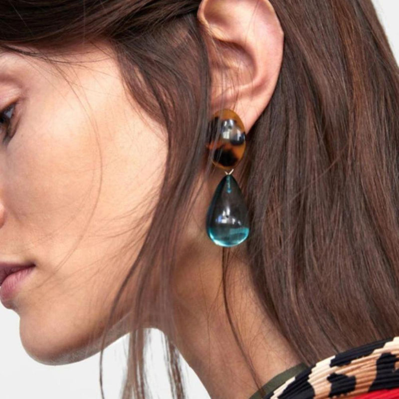 Resin Statement Drop Earrings