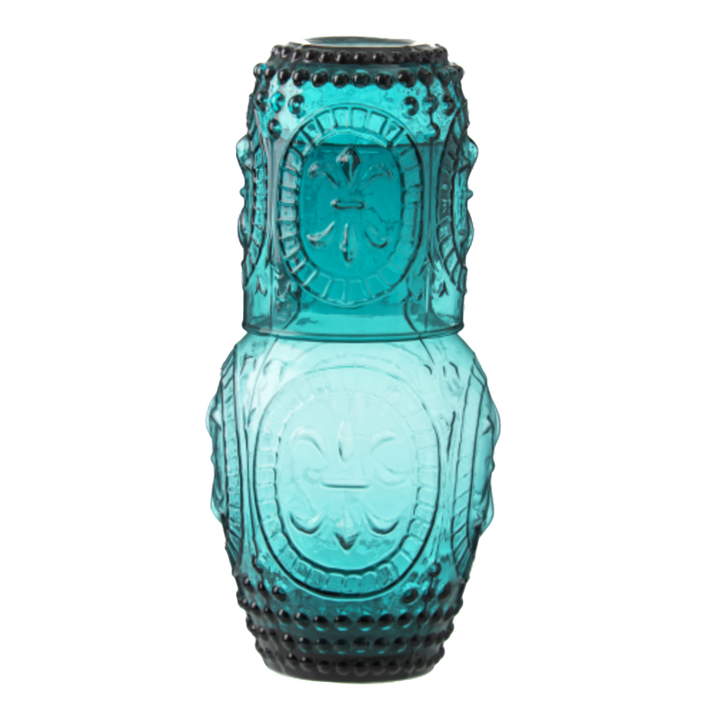 Turquoise Water Carafe with Glass