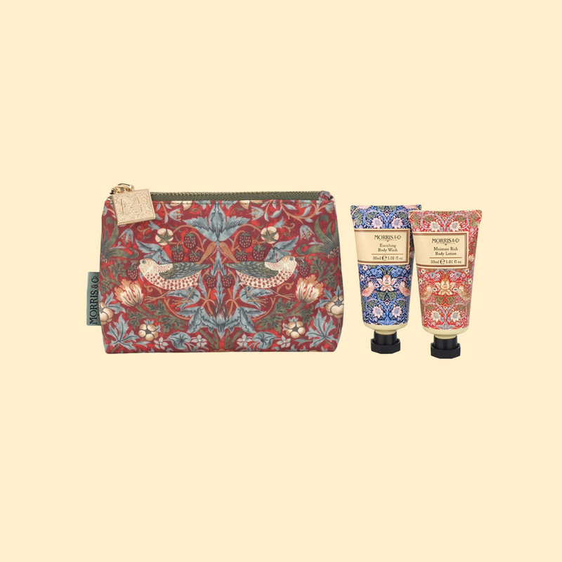 Hand Cream & Costmetic Bag by Morris (Strawberry Thief Design)