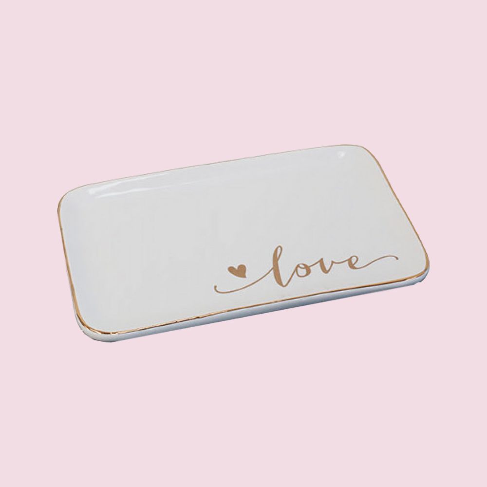 Trinket Dish - Love & Heart Design