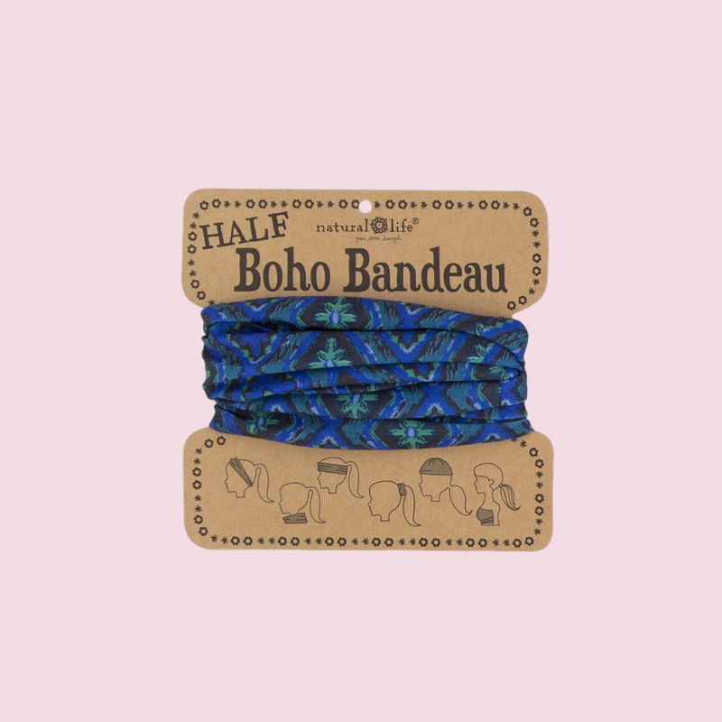 Half Bandeau (Boho Navy & Green Design)