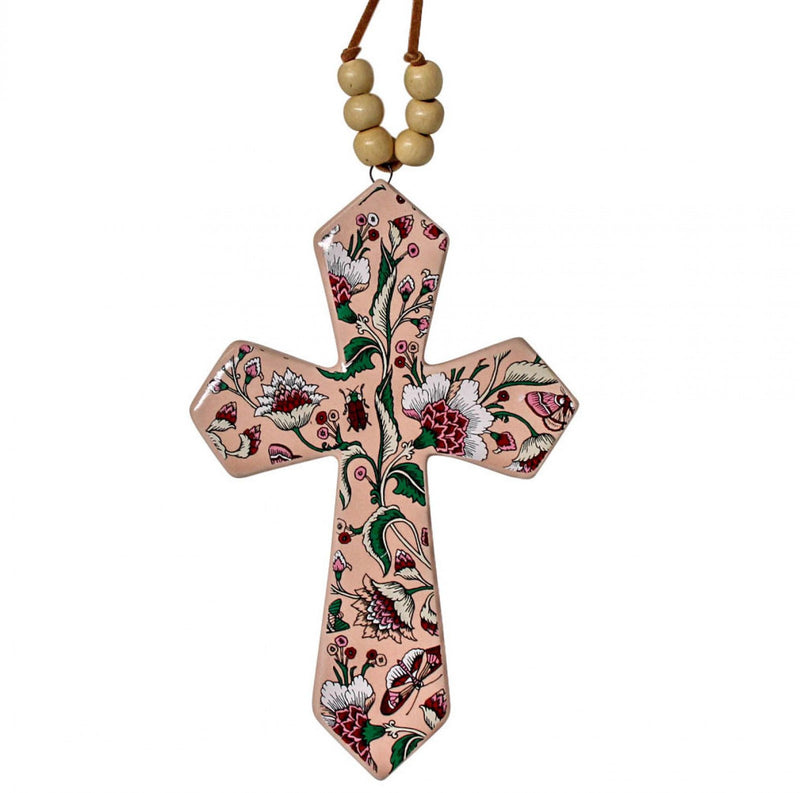 Cross with Beads Blossom (Small)