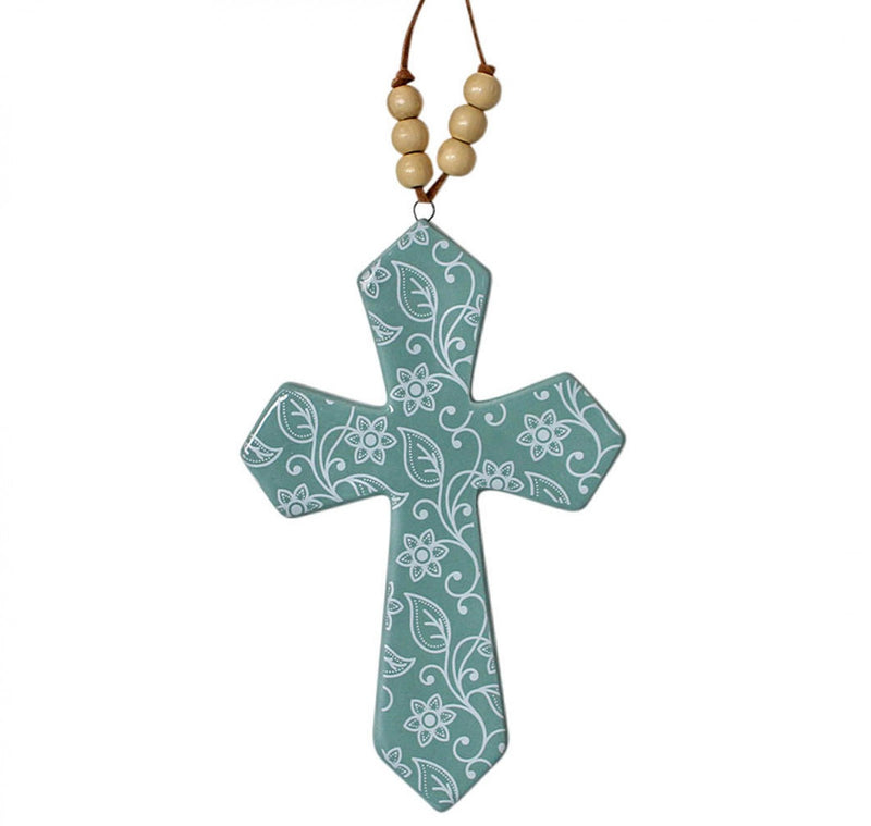 Cross with Beads Vine (Small)