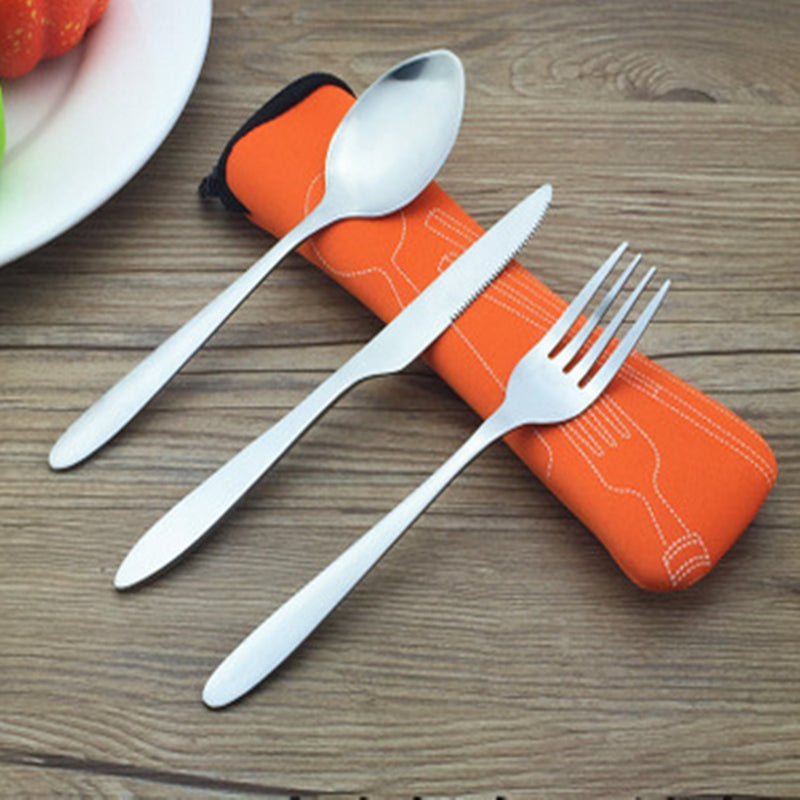 Travel Cutlery Set (3 piece) with Pouch