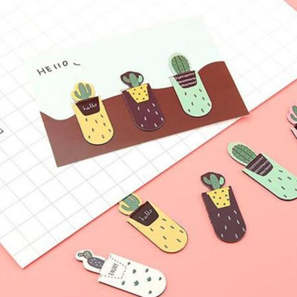 Magnetic Cactus Book Mark - Set of 3