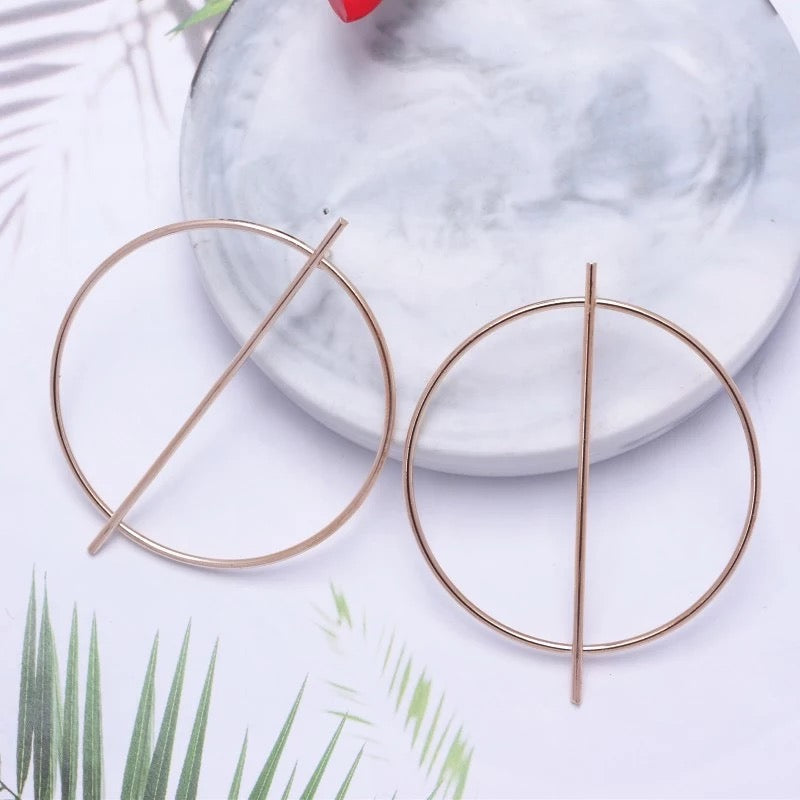Circle Geometric Earrings (Gold & Silver Colour available)
