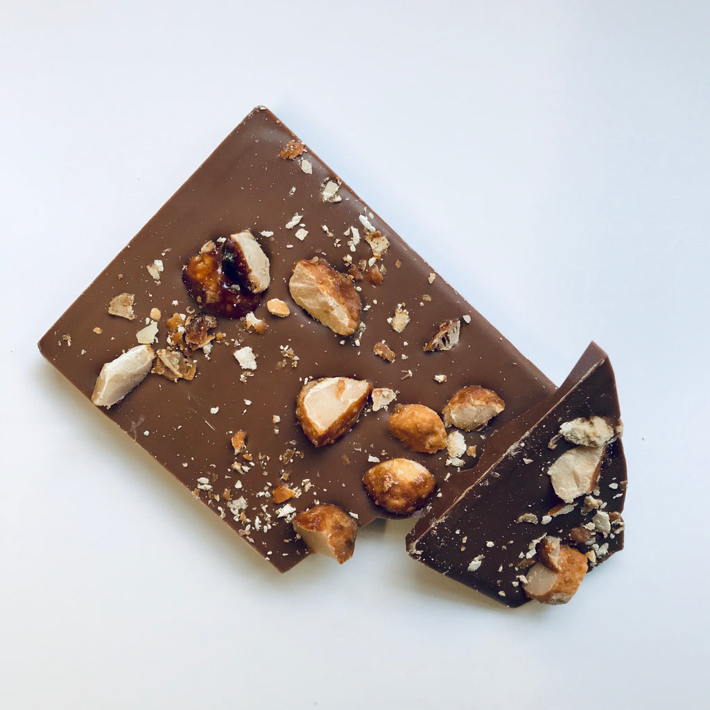 Handmade Chocolate Bar - Honey Macadamia